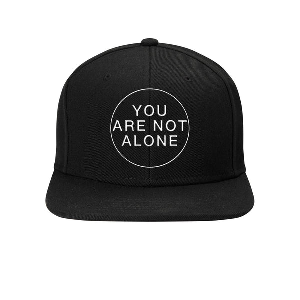 Flat Brim Snapback Baseball Cap - You Are Not Alone
