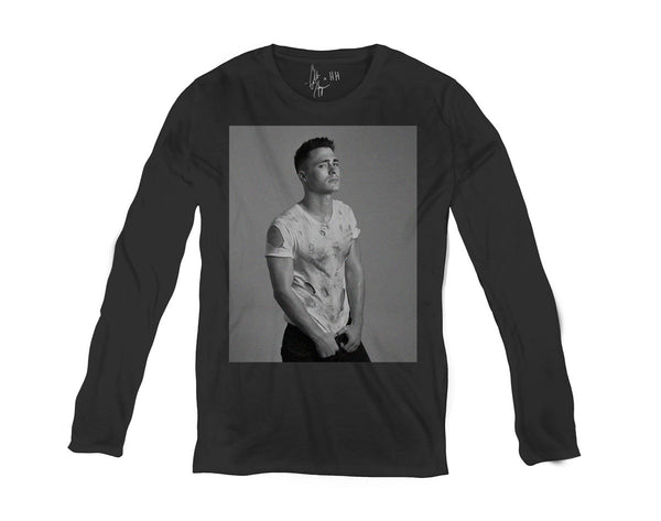 Men's Long Sleeve T Shirt - Ripped