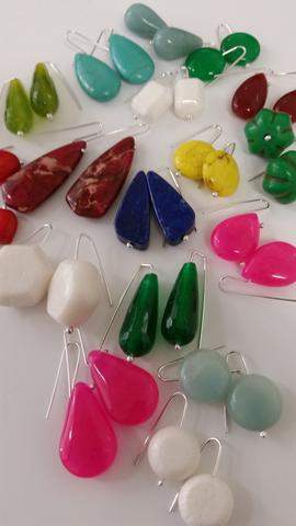 Colour stone earrings great Xmas gifts
