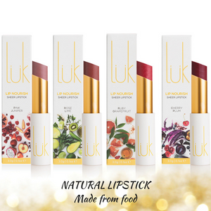 LUK: Edible natural lipstick brimming with skin food actives your lips crave!