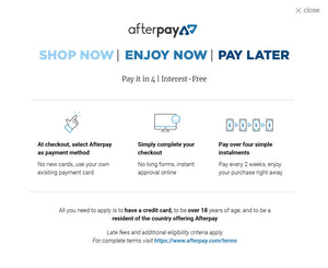 Afterpay for your jewellery