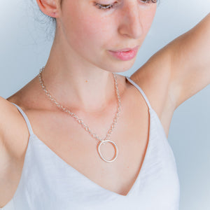 LOOPY CHUNKY SILVER NECKLACE - Connie Dimas Jewellery