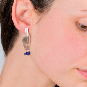 AMPHORA BLUE EARRINGS - Connie Dimas Jewellery