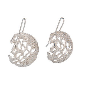LACE DROP & GOLD EARRINGS - Connie Dimas Jewellery