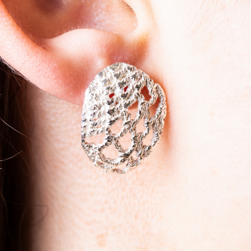 LACE STUD EARRINGS - Connie Dimas Jewellery