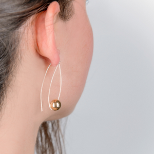 NERIDA SILVER AND GOLD EARRINGS - Connie Dimas Jewellery