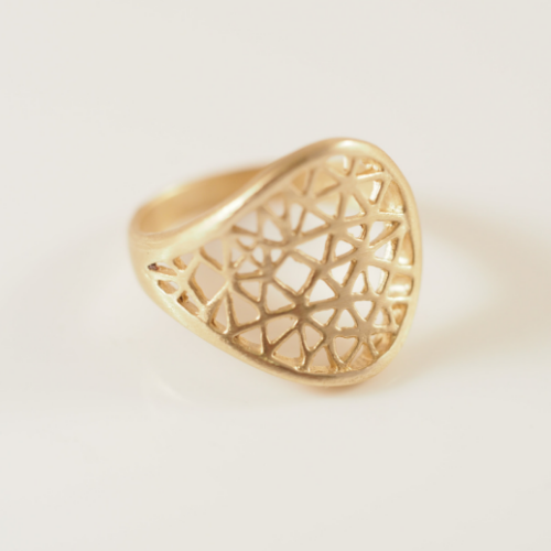 Cut-it-out 9CT gold ring - Connie Dimas Jewellery