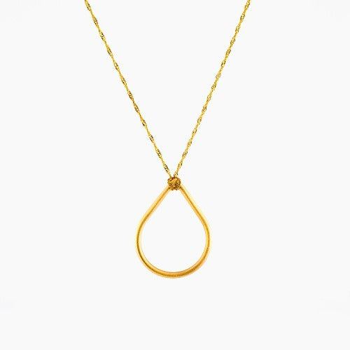 Teardrop 9CT gold Necklace - Connie Dimas Jewellery