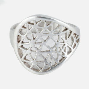 Cut-it-out silver ring - Connie Dimas Jewellery