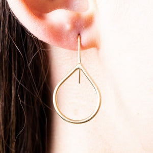 Teardrop 9CT gold earrings - Connie Dimas Jewellery