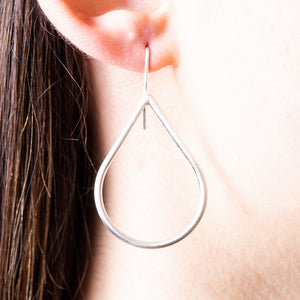 Teardrop hoop earrings - Connie Dimas Jewellery