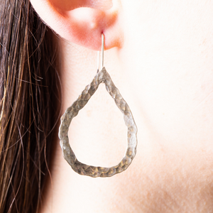HAMMERED TEADROP EARRINGS - Connie Dimas Jewellery