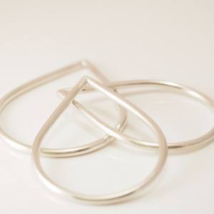 Teardrop bangle - Connie Dimas Jewellery