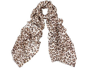 Wool & silk scarf-animal