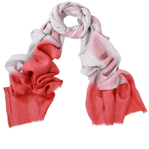 Wool & silk scarf-red edge