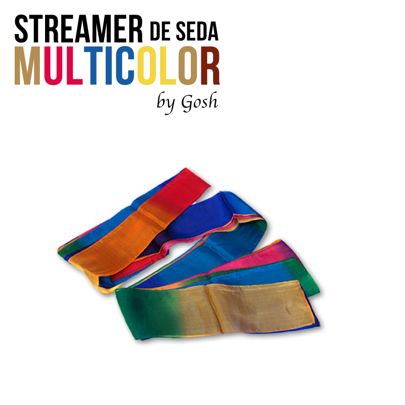 Streamer de seda- Multicolor 10cm x 2.75m