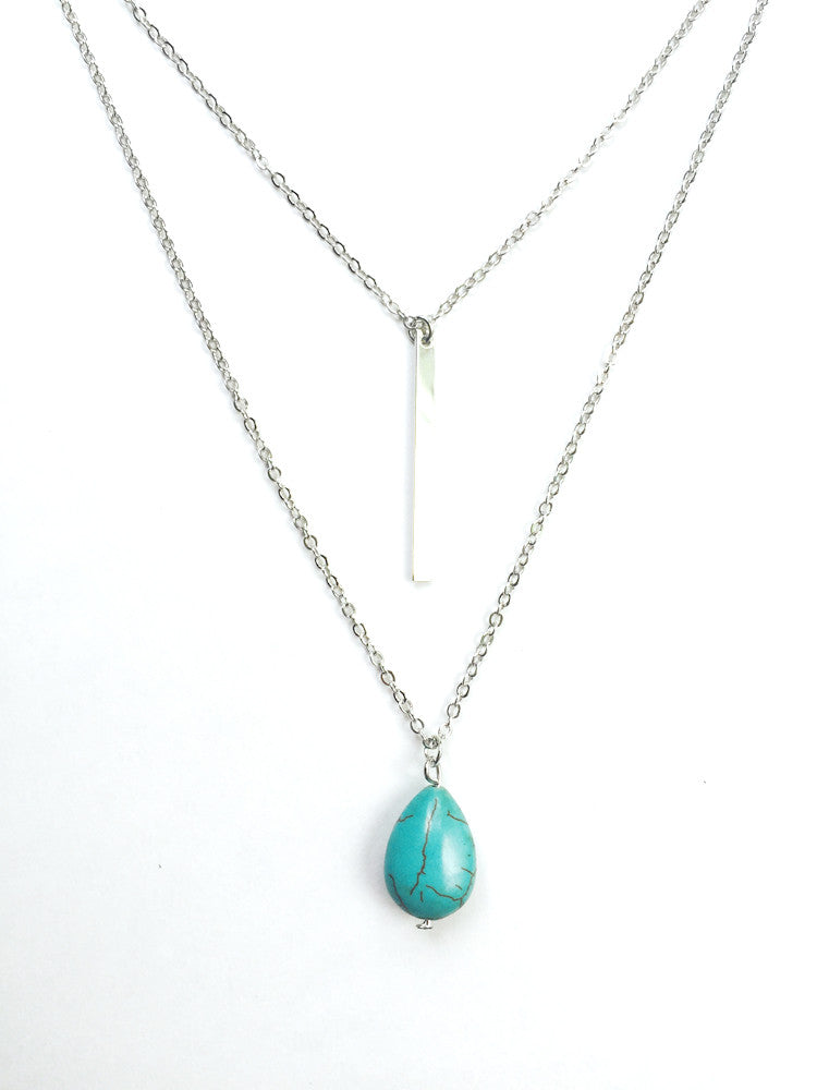 Layered Water Drop Necklace