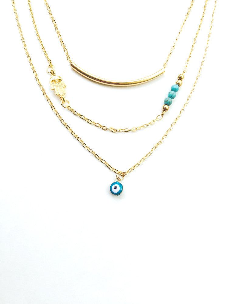 Bar Layered Necklace