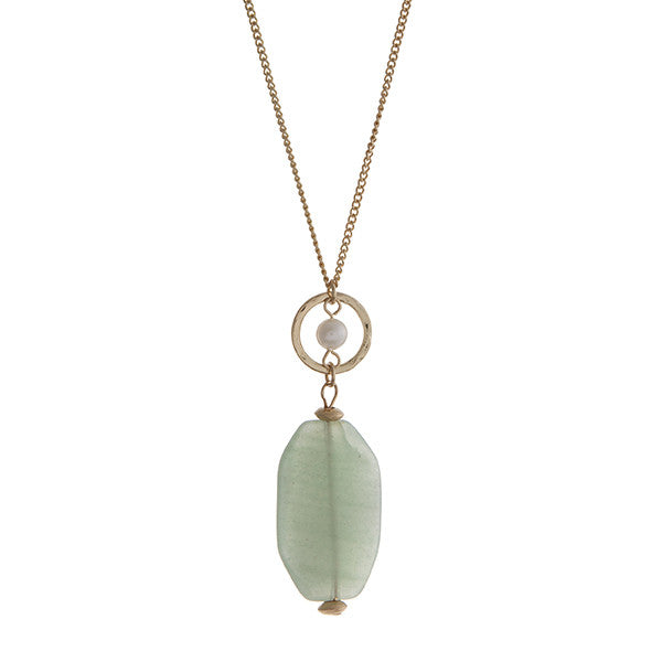 Mint Natural Stone Necklace