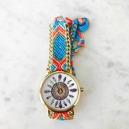 Bohemian Feather Watch