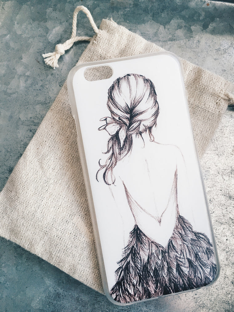 Black and White Illustration Case