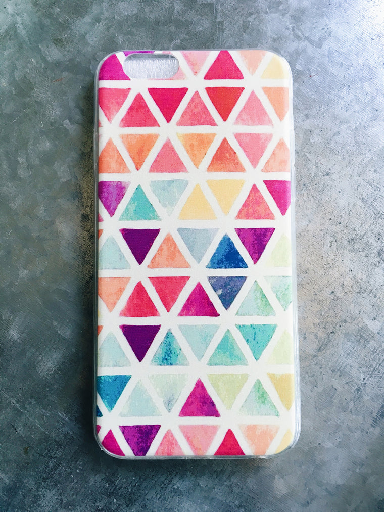 Colorful Triangle Pattern Case