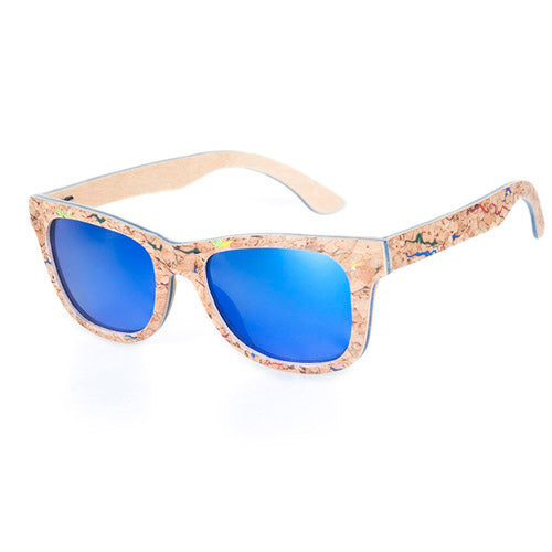 Bobo Bird Polarized Cork & Bamboo Sunglasses