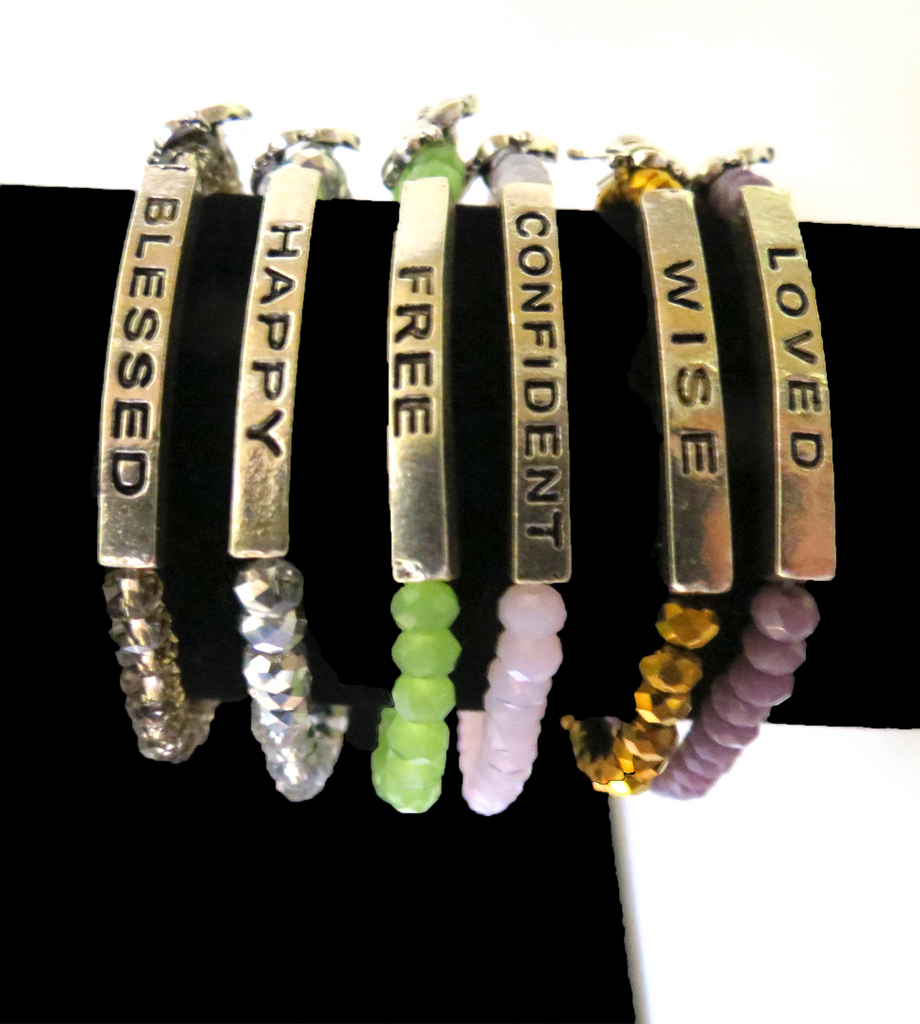 Beaded Gold Motivation Bracelets