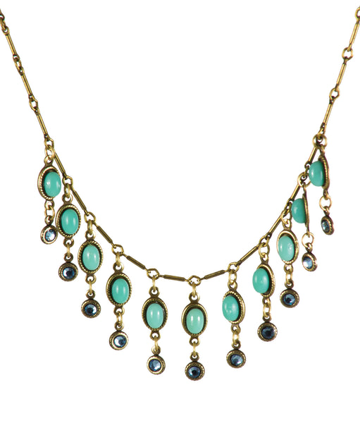 Outstanding Oval Crystal Drop Necklace