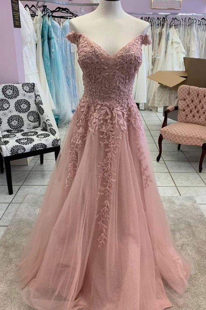 Unique sweetheart tulle lace long prom dress tulle lace evening dress