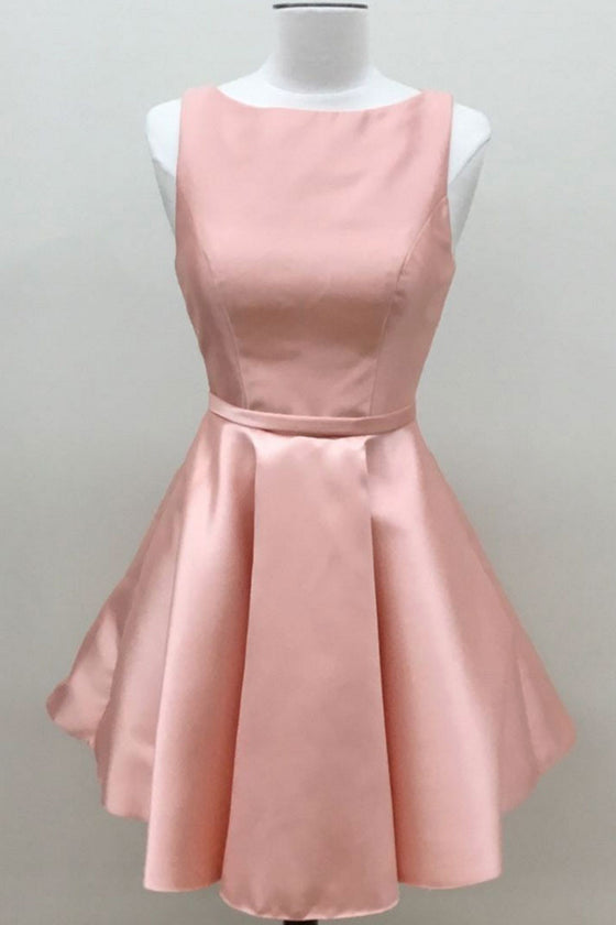 Cute pink short prom dress, pink homecoming dress