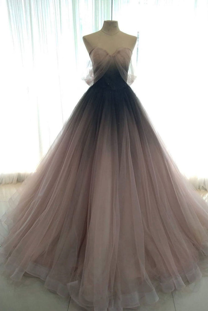 Unique tulle long prom dress tulle formal dress