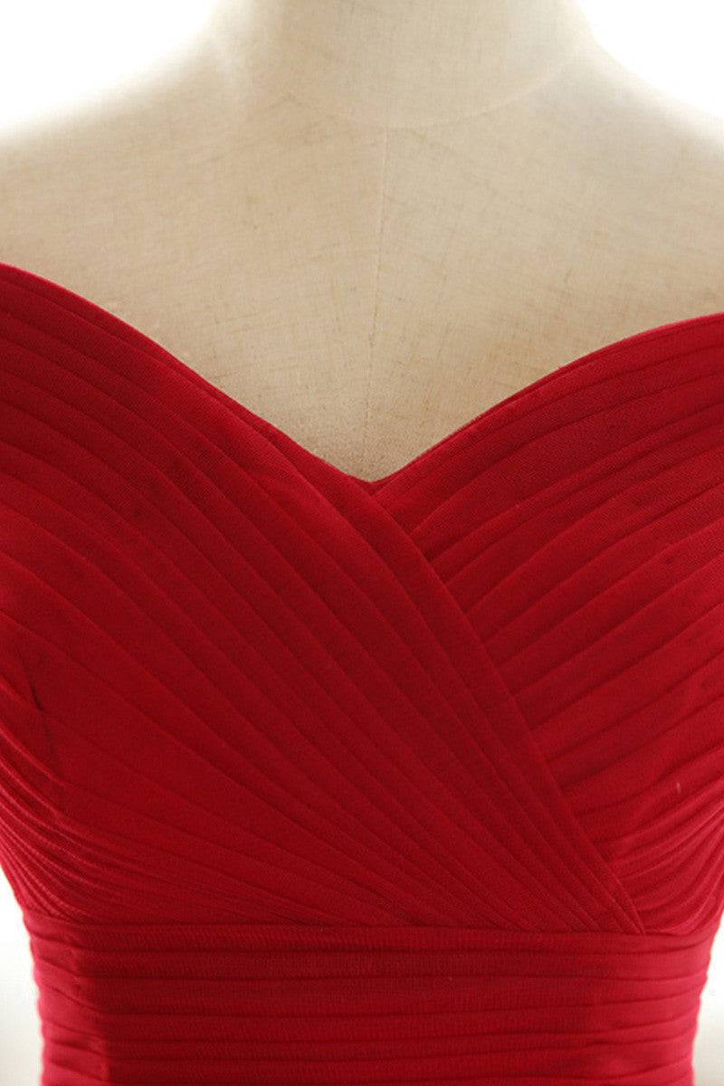 cf45b177a2b Simple red off shoulder tulle long prom dress