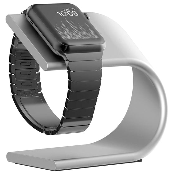 Nomad Stand for Apple Watch Charging Stand in Silver