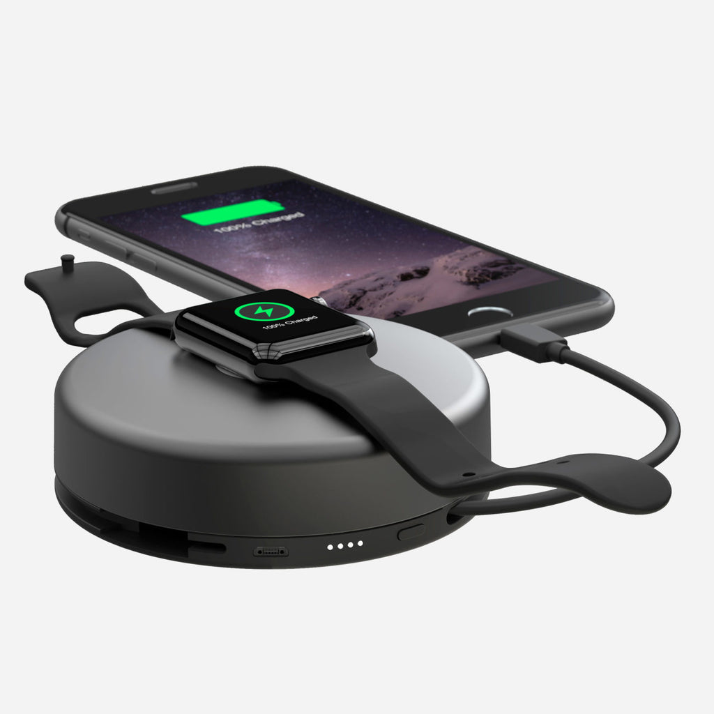 Nomad Pod Pro for iPhone and Apple Watch in Space Gray