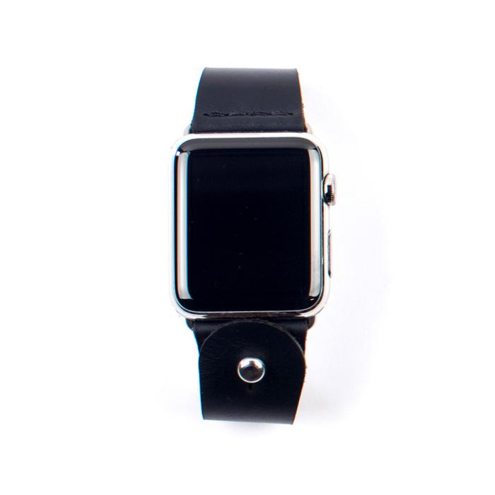 Form Function Form Black Button-Stud Apple Watch Band 42/ 44 mm
