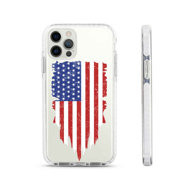 Limited77 USA Shield Flag Silicone iPhone Case