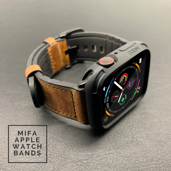 Mifa Hybrid Sports Leather Bands with Elkson Bumper Case Combo
