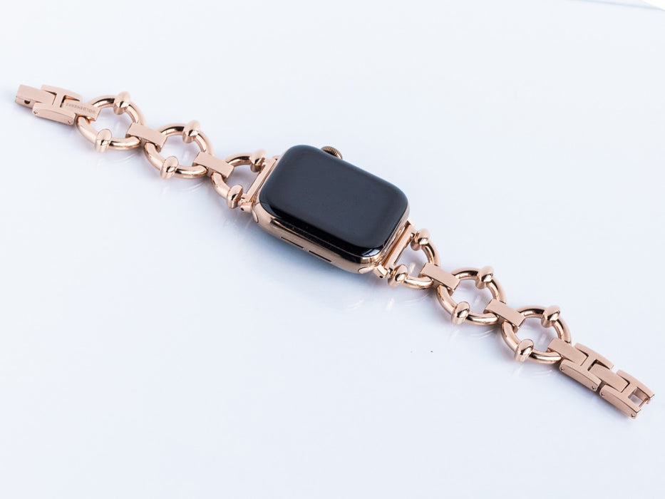 Goldenerre Classic Link Bracelet Apple Watch Band