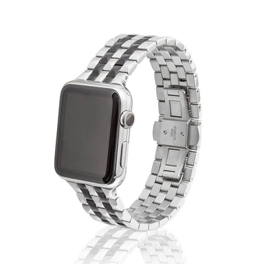 Juuk 42 mm Brushed Two-Tone Black Locarno - Cult of Mac Watch Store