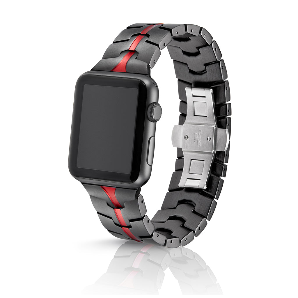 Juuk Vitero Ruby Grey Apple Watch Band - Cult of Mac Watch Store