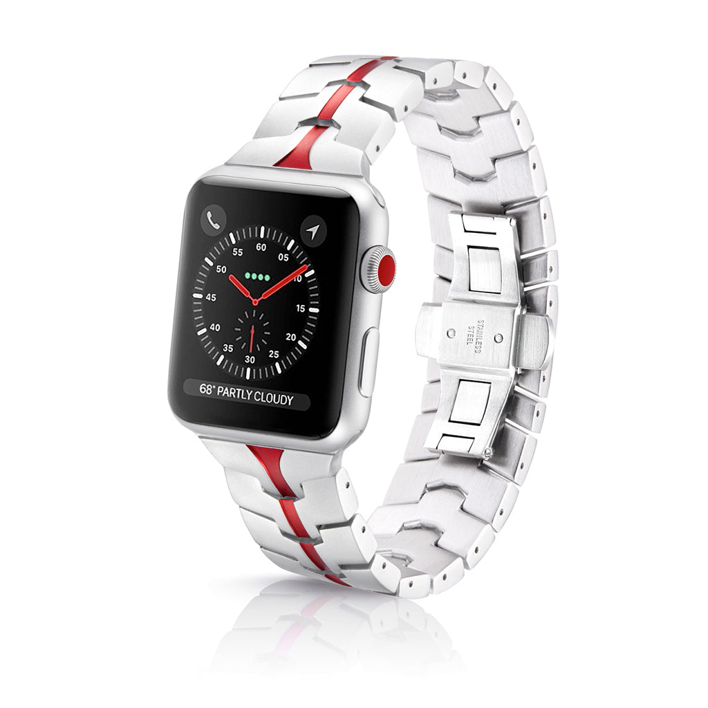 Juuk Vitero Ruby Silver Apple Watch Band - Cult of Mac Watch Store