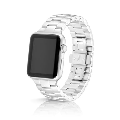Juuk Velo Silver Apple Watch Band - Cult of Mac Watch Store