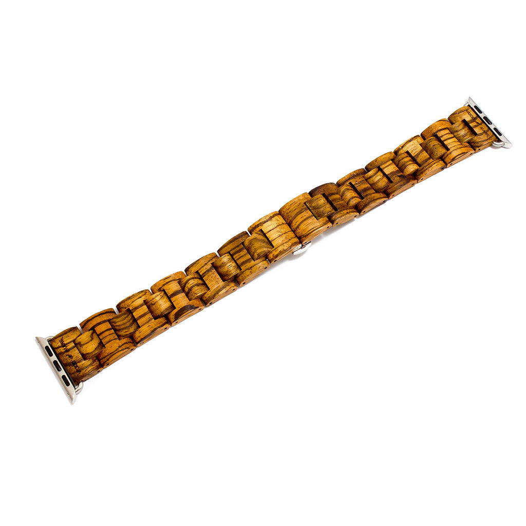 Wood Mark Teton Apple Watch Band in Gold Zebrawood