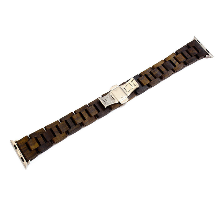 Wood Mark Teton Apple Watch Band in Bamboo and Black Sandalwood - Cult of Mac Watch Store