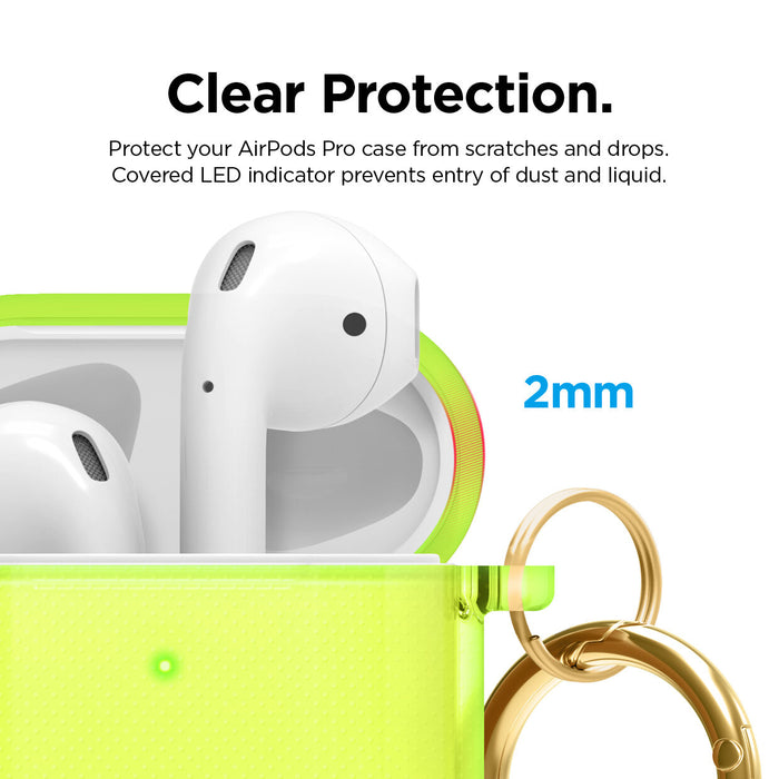 Elago Transparent Protective Case with Keychain for Apple Airpods 1 & 2