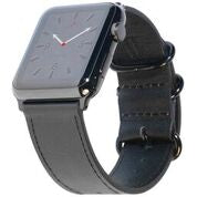 Carterjett Leather Apple Watch Band in Black