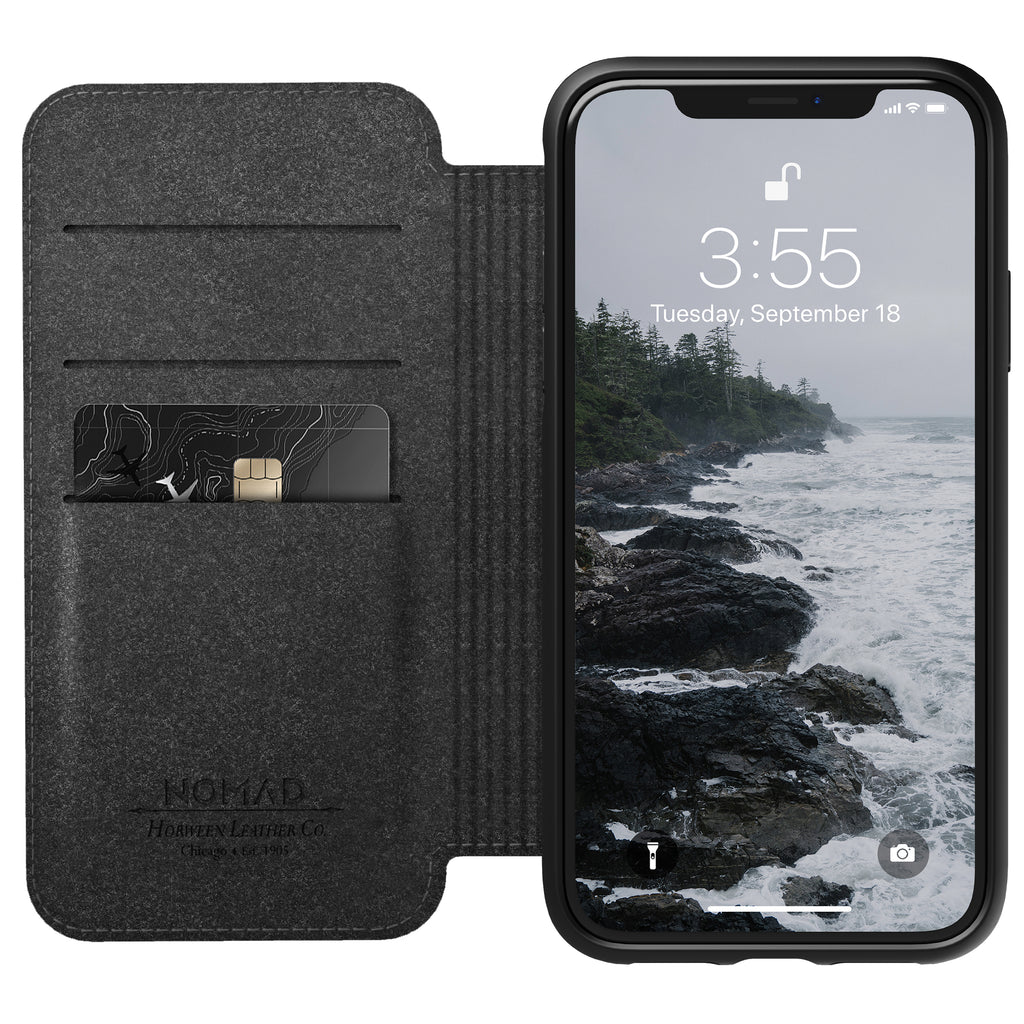 Nomad Rugged Folio Black for iPhone XR