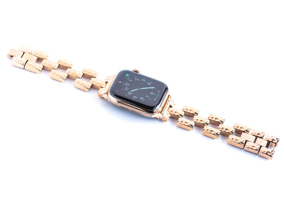 Goldenerre Hammered Link Bracelet Apple Watch Band
