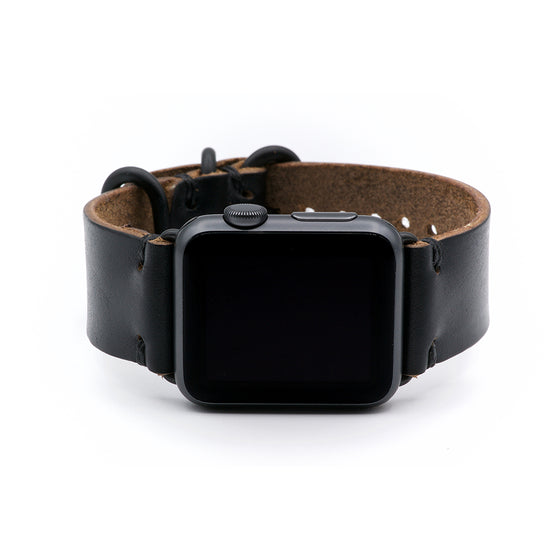 E3 Apple Watch Strap in Black Chromexcel Leather